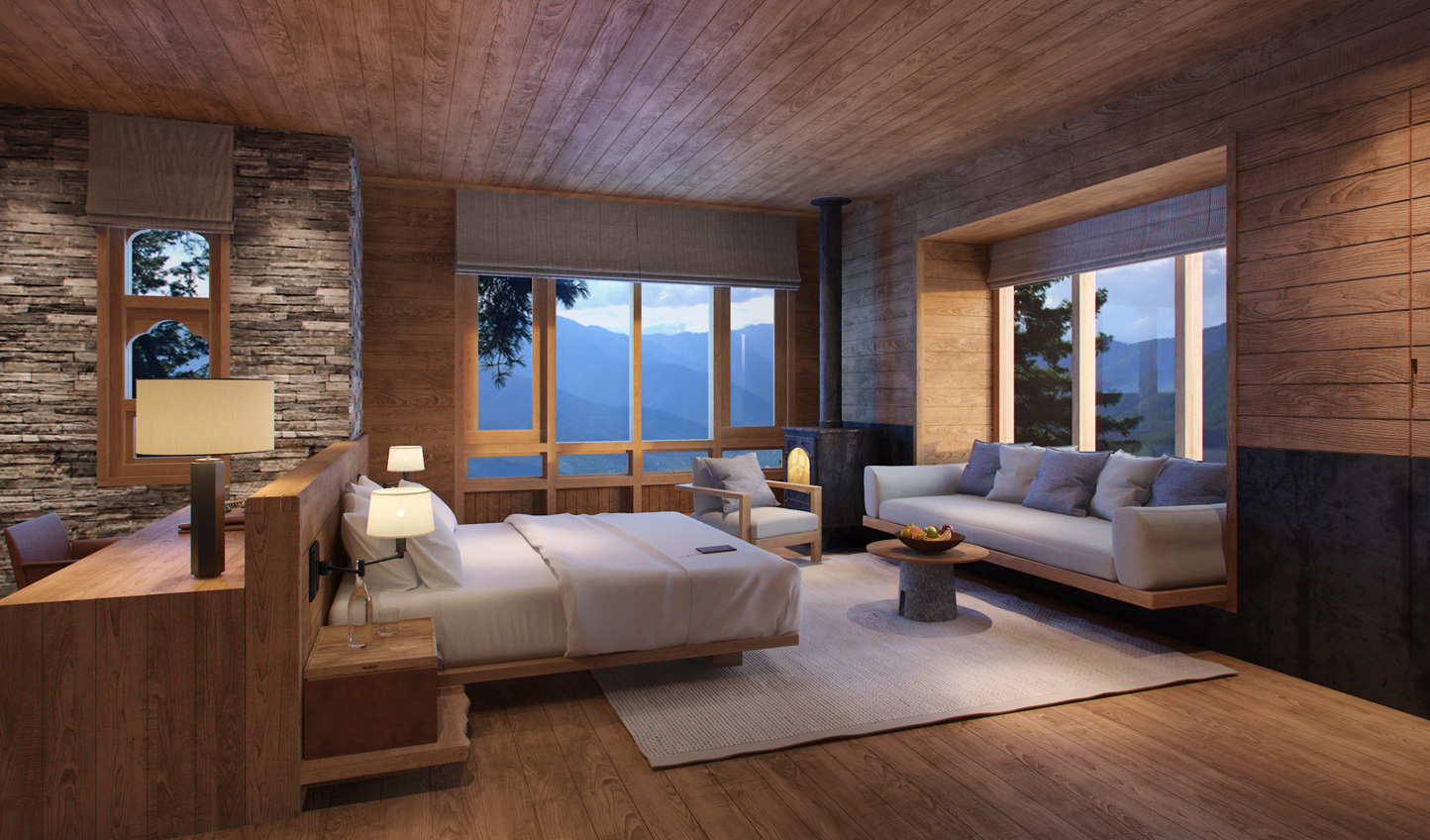 Luxurious designed inspired by Bhutan's heritage at Six Senses Paro