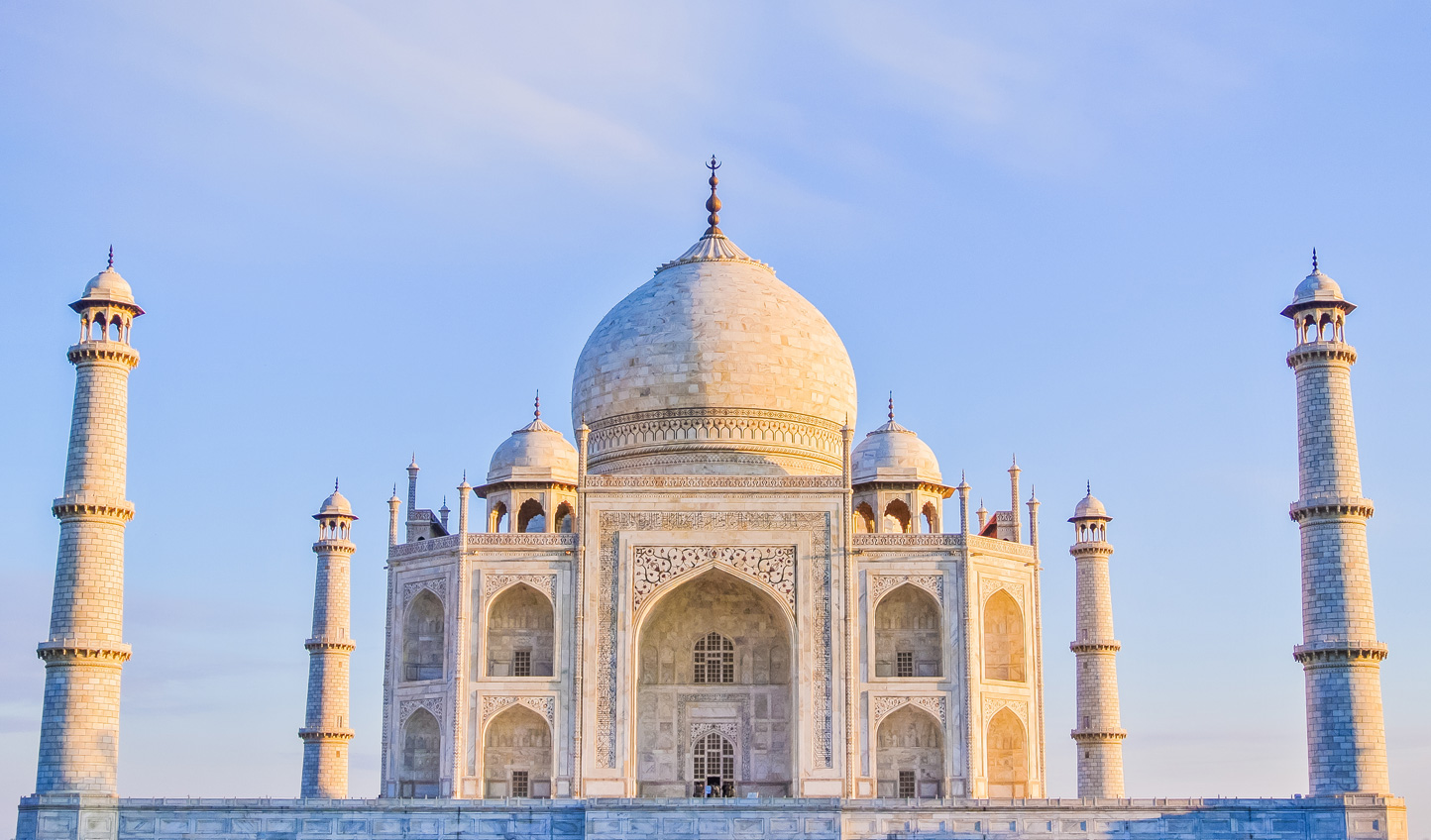 Get ahead of the crowds and behold the beauty of the Taj Mahal at sunrise
