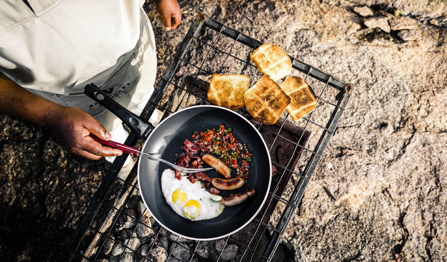 Take a walk on the wild side and tuck into a bush breakfast