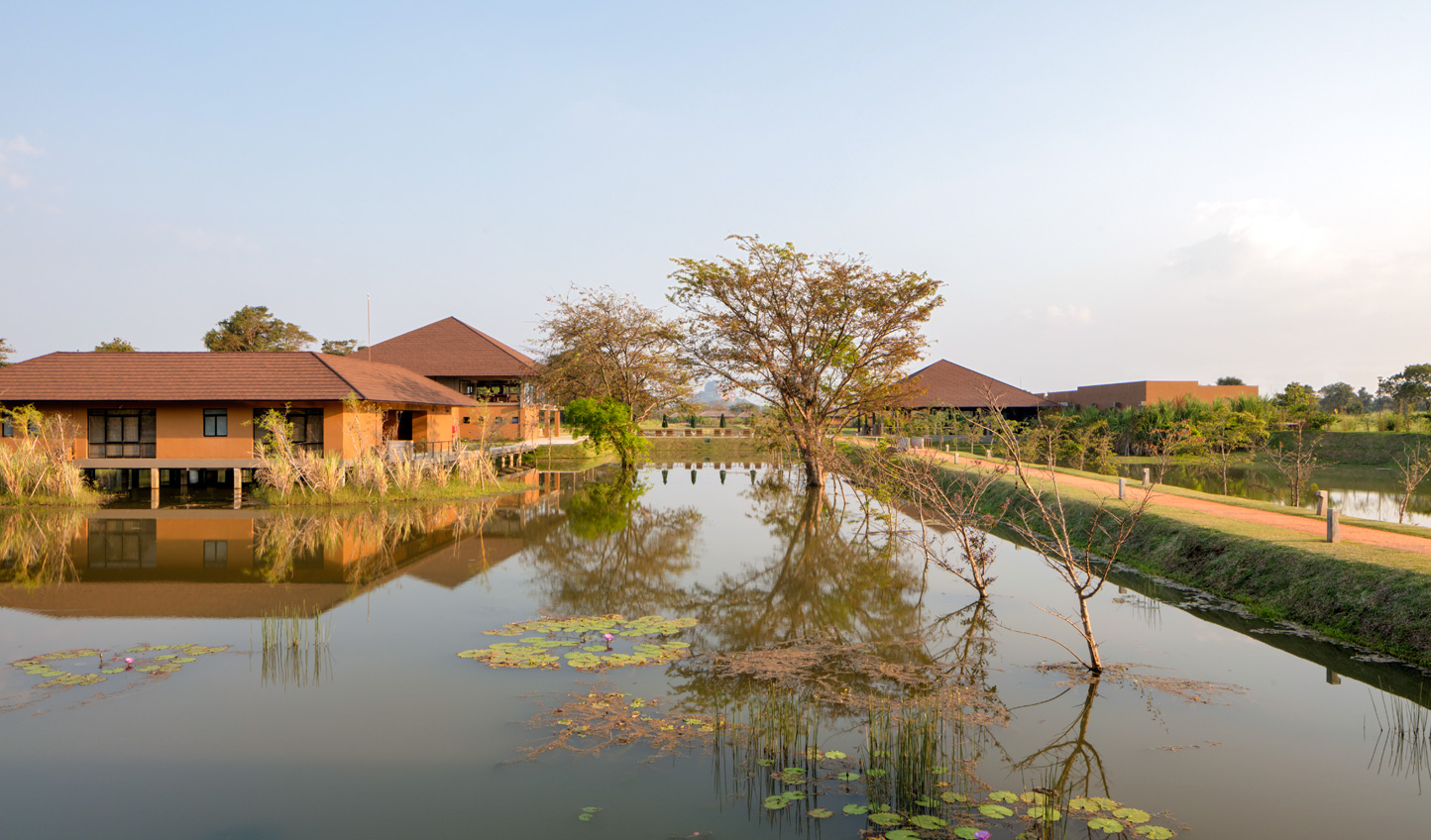 Stroll along the meandering waterways to your peaceful villa