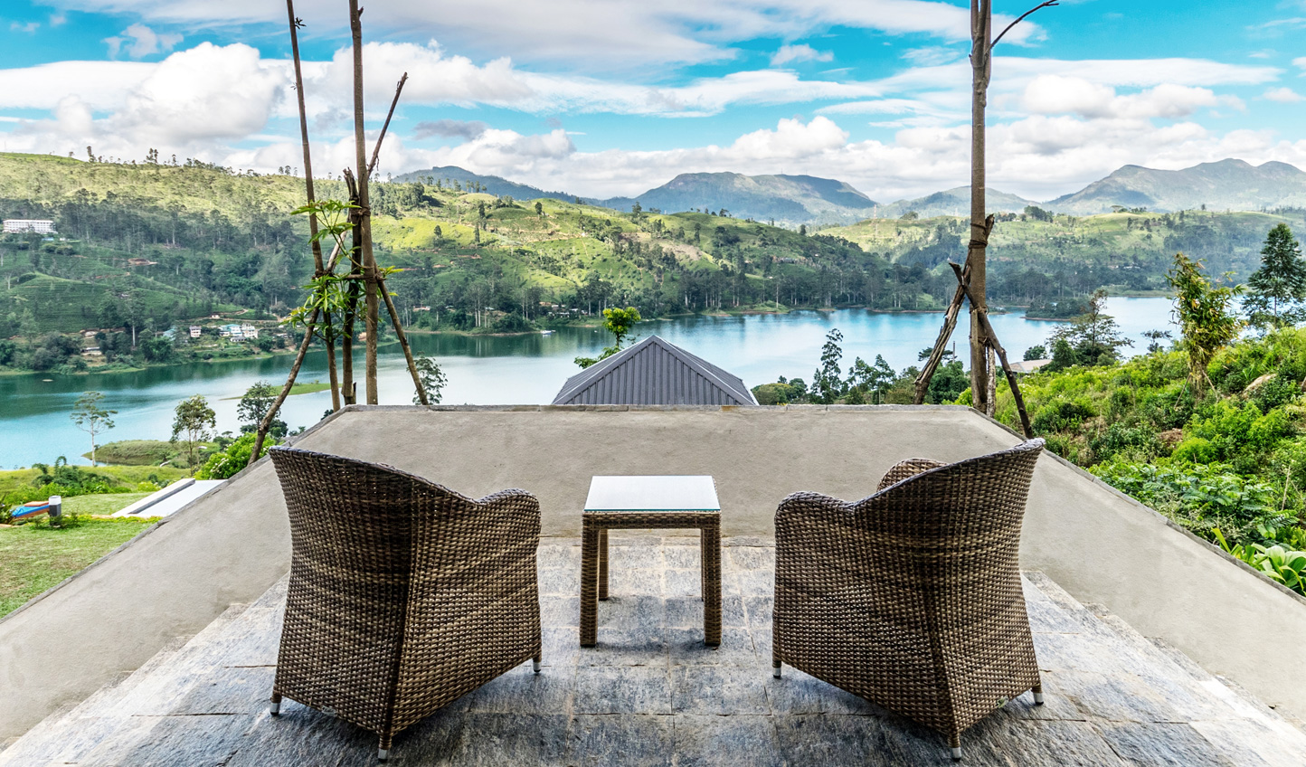 Head outside to soak in the panoramic views of Castlereagh Reservoir and its bordering tea vines