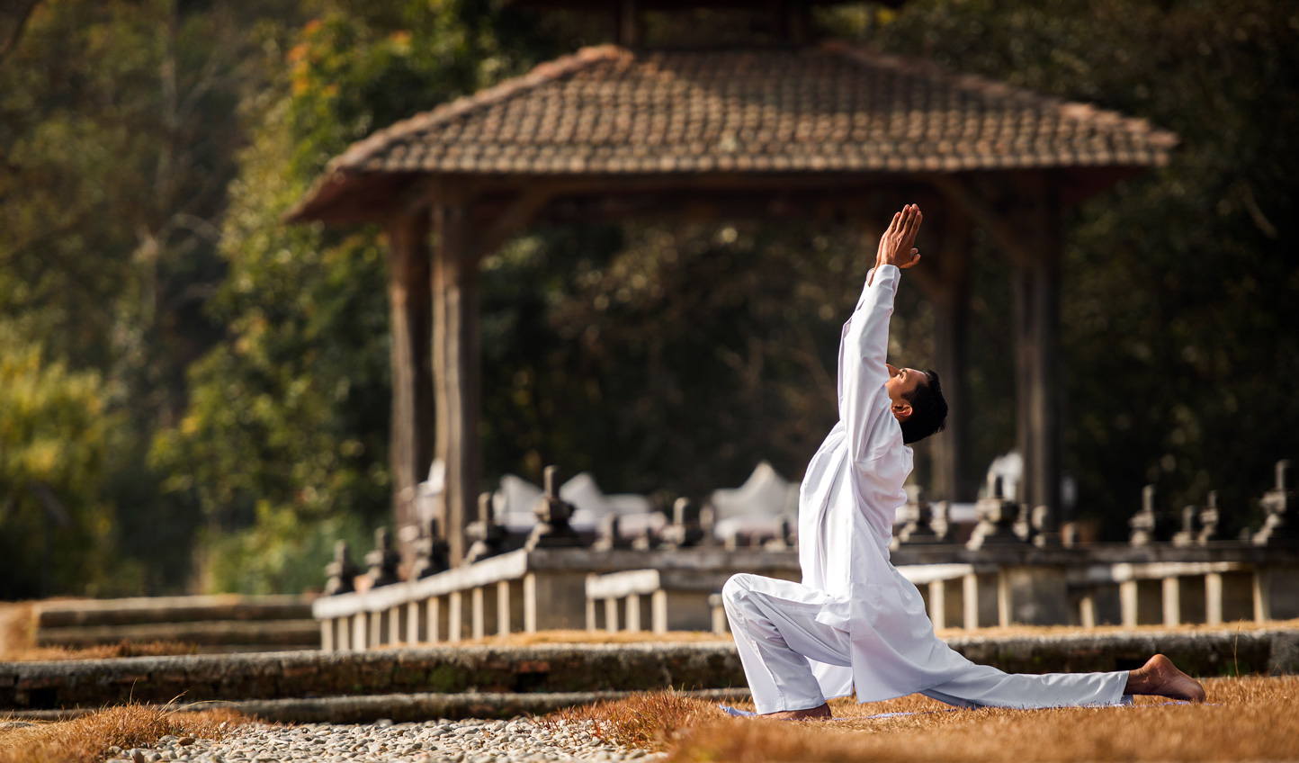 Start each day with yoga masterclass at Dwarika's Resort