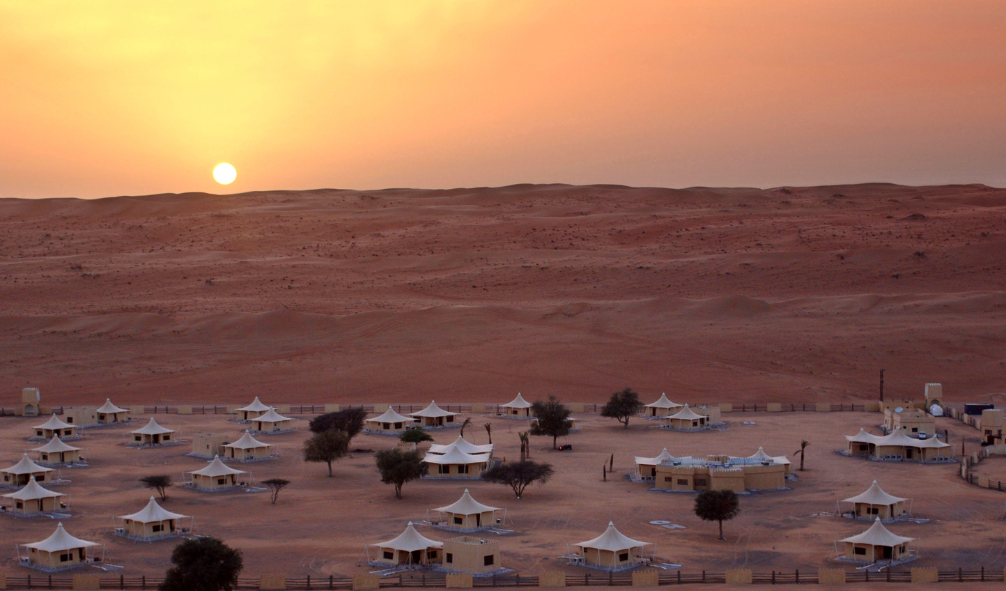 Seemingly in the midst of nowhere, find your home at the Desert Luxury Camp