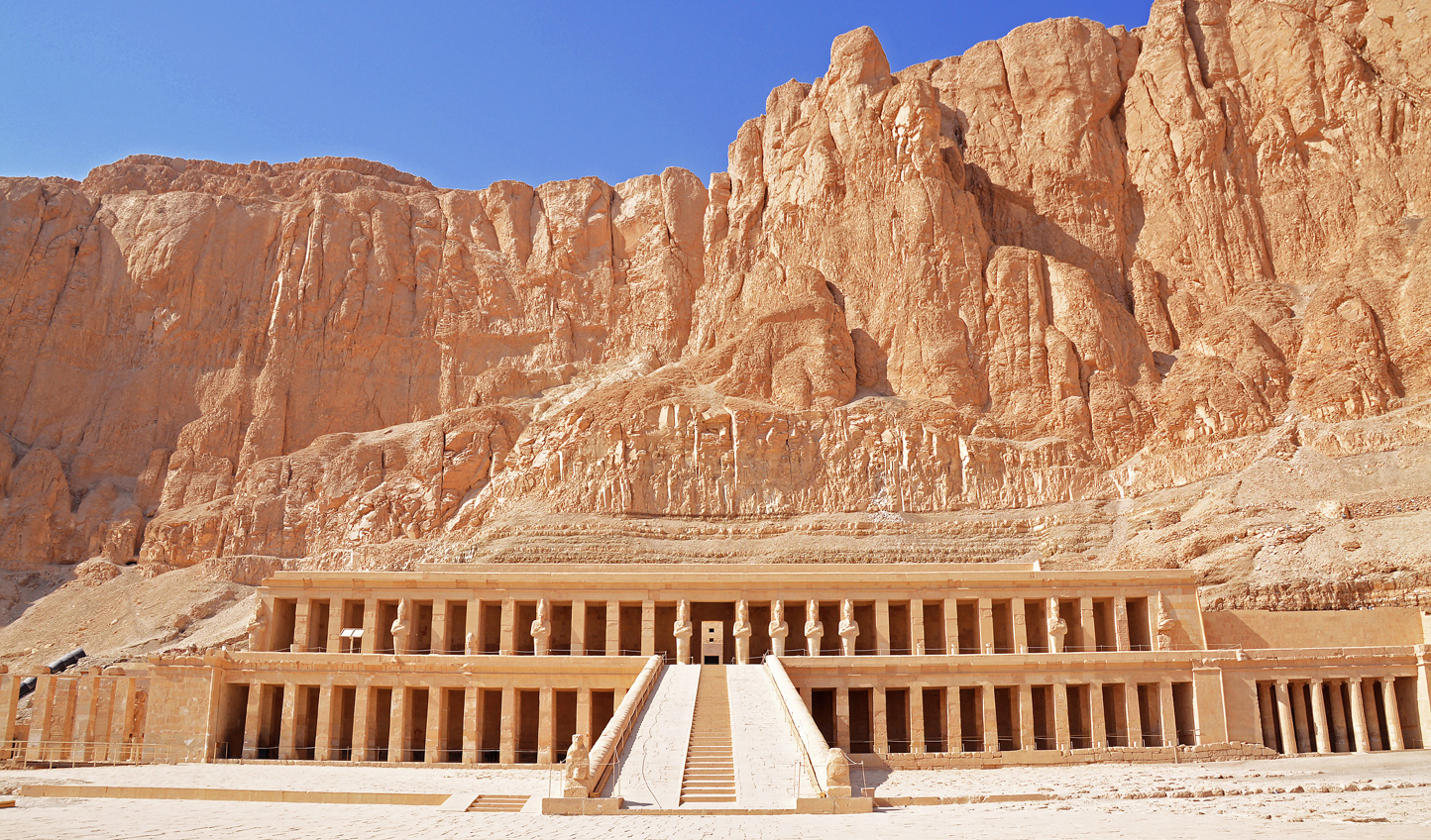 The vast Hatchepsut's Temple, carved into the mountainside