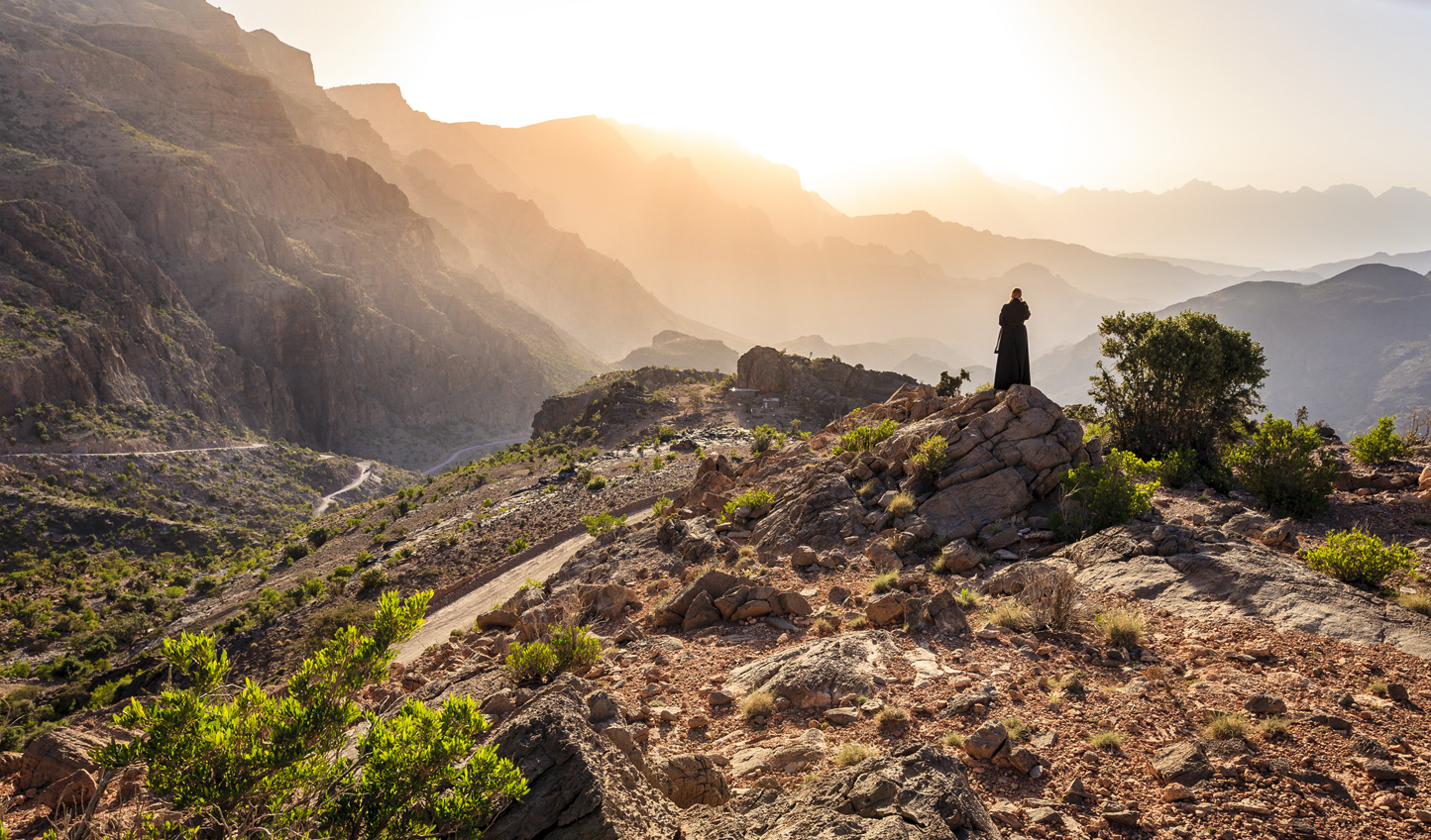 Hike through the Al Hajar Mountains, learning about local life on the way