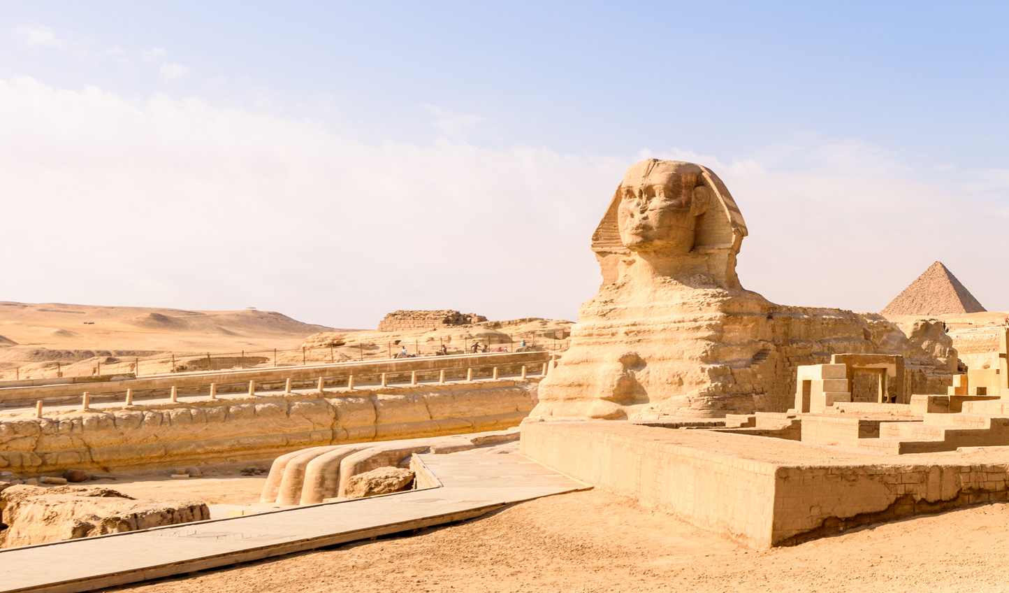 Gain exclusive access to the base of the Sphinx alongside a world-renowned archaeologist