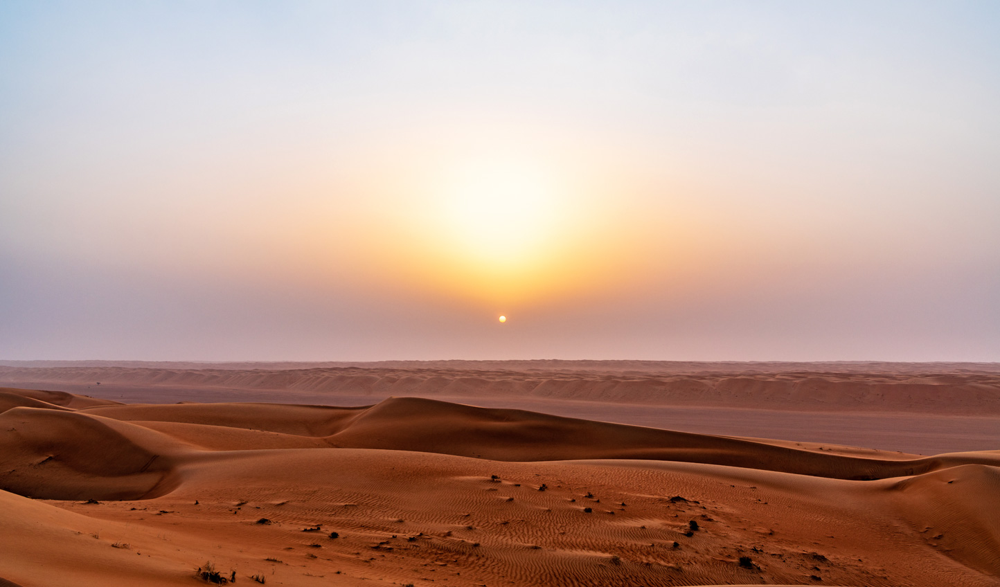Watch the sun rise up to light up the sands and breathe warmth into the air