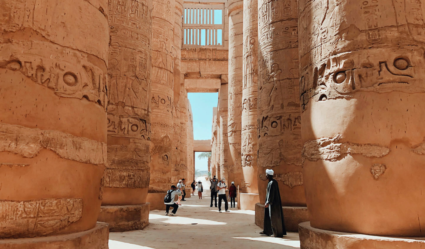 Stroll speechless through Egypt's mighty temples...