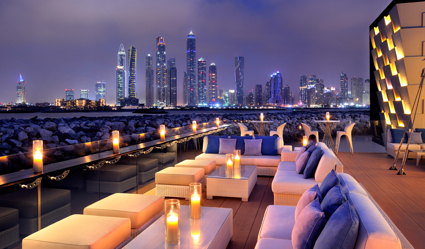 Enjoy an aperitif at the 101 Dining Lounge and Bar which boasts unparalleled panoramic views of the New Dubai skyline