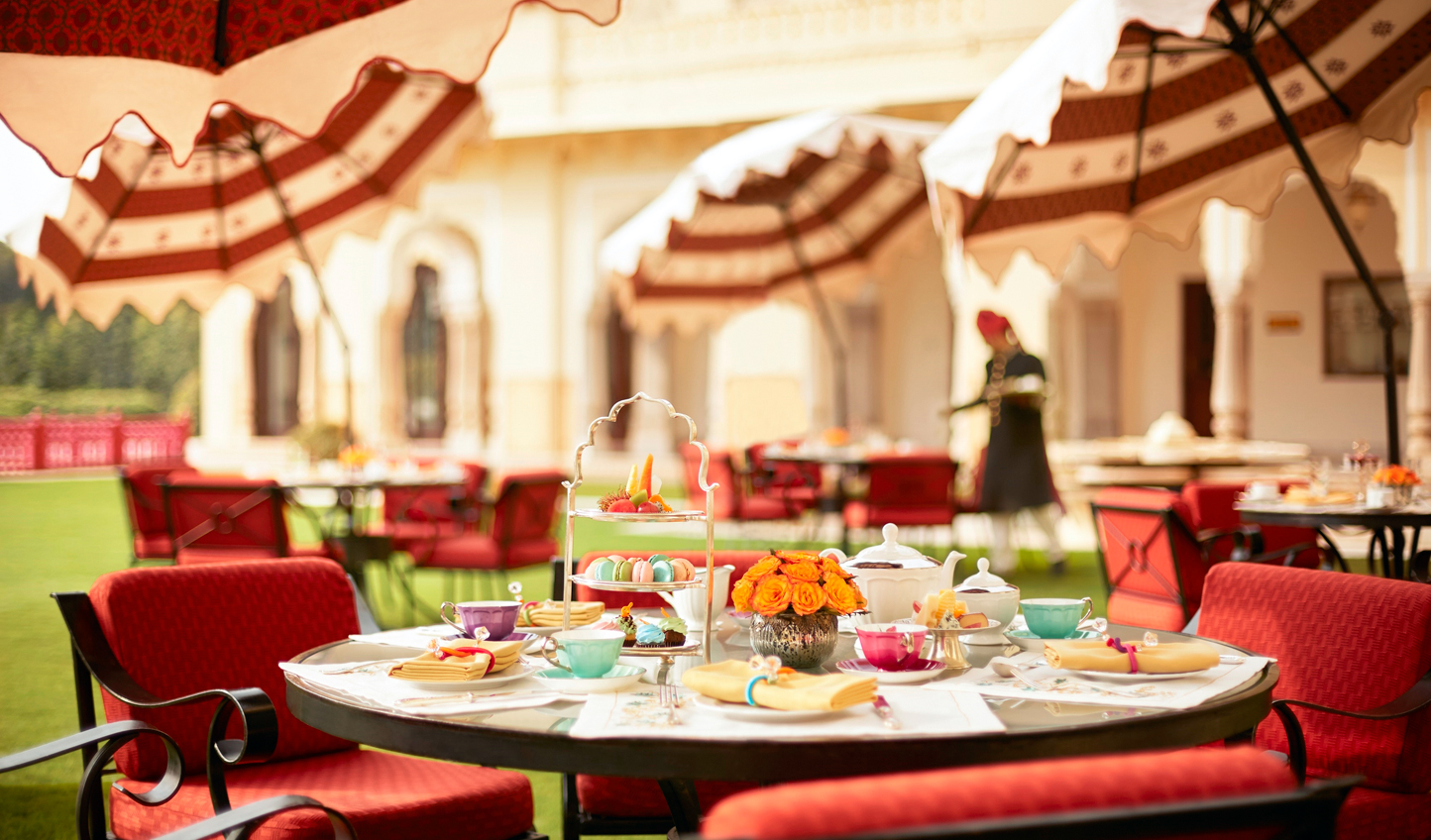 Recharge over an afternoon tea out on the lawns