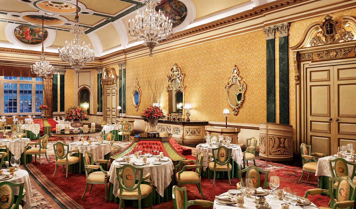 Dine in style in the former ballroom