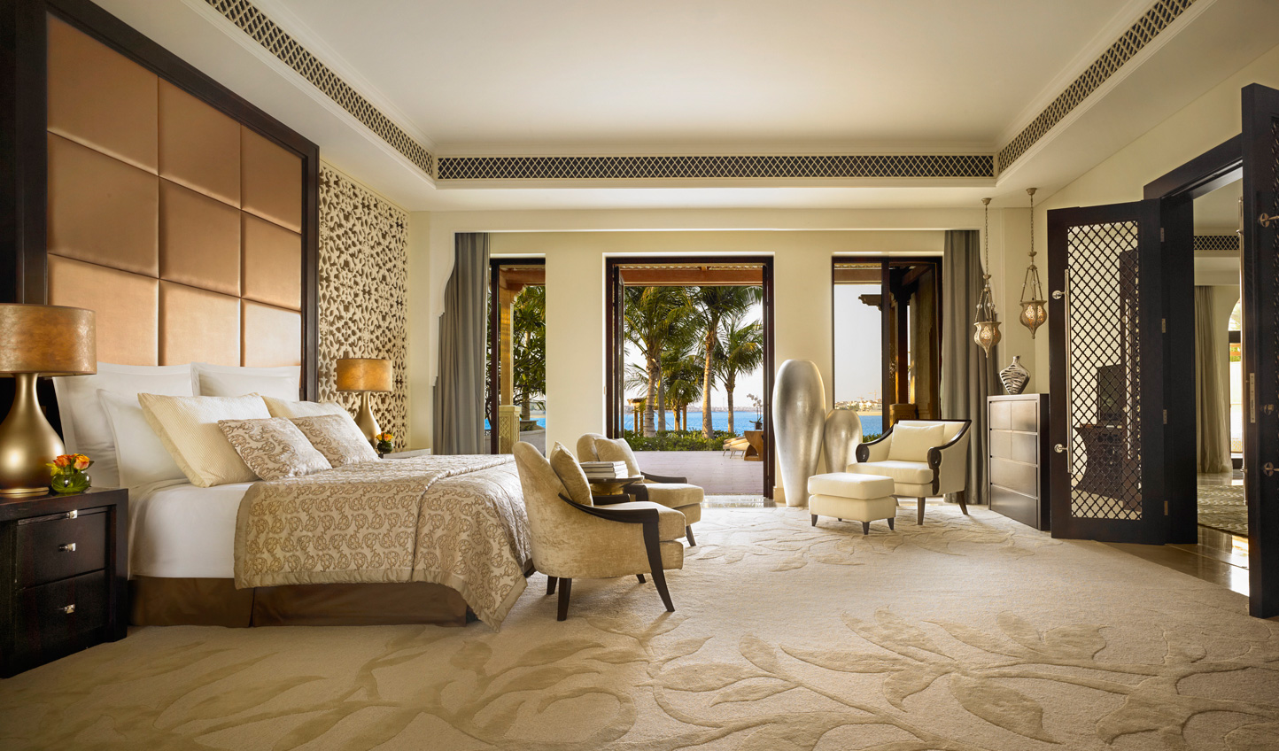 The master bedroom in the Beach Front Villa will exceed every expectation