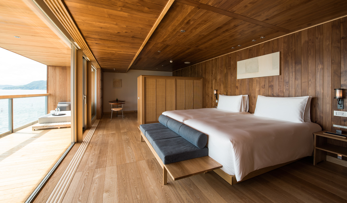 Stylish minimalism evokes a sense of calm in your cabin suite