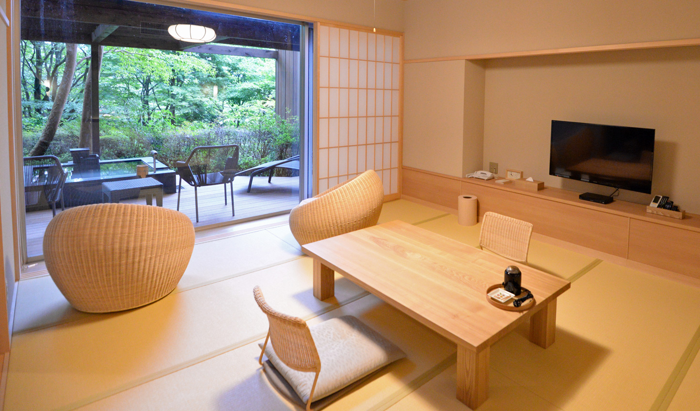 Lined with Tatami mats and showcasing minimalist design, the suites embody traditional Japanese style