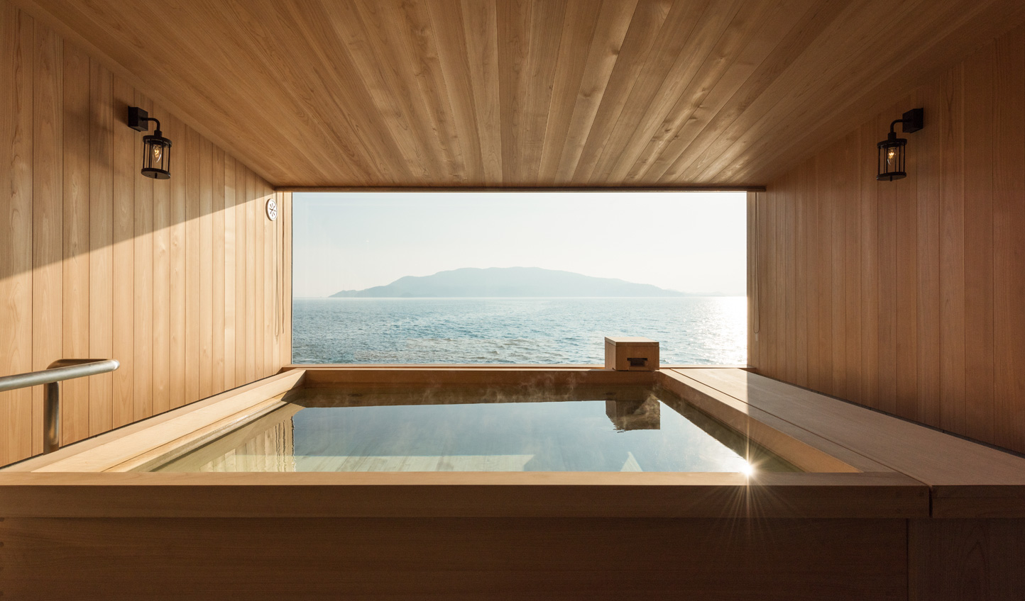 Whether on land or at sea, experience the Japanese tradition of a cypress bath
