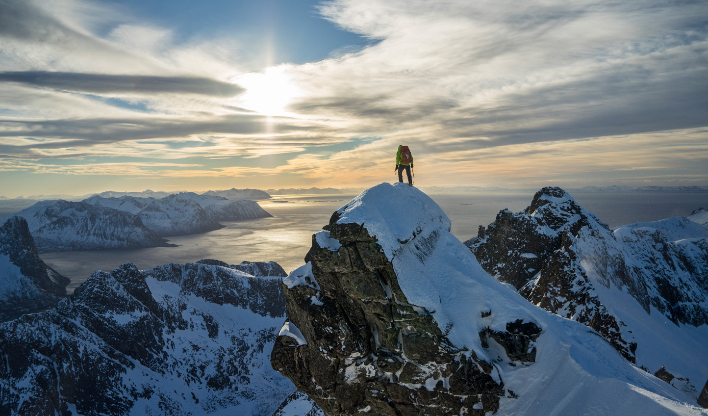Conquer mountains before skiing back down them