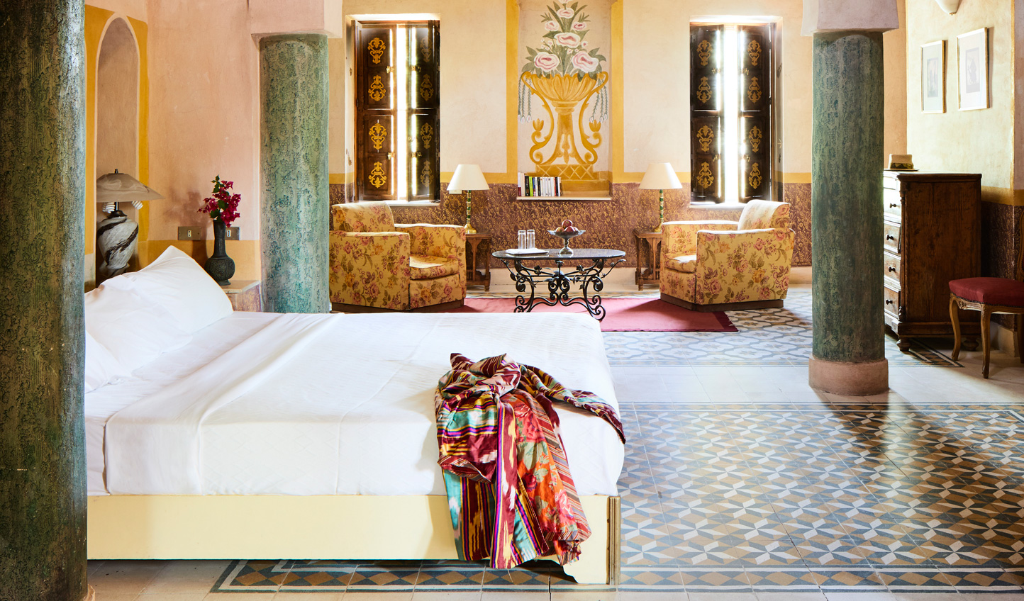 Spacious suites reminiscent of Moroccan riads with beautiful tiling and hidden terraces