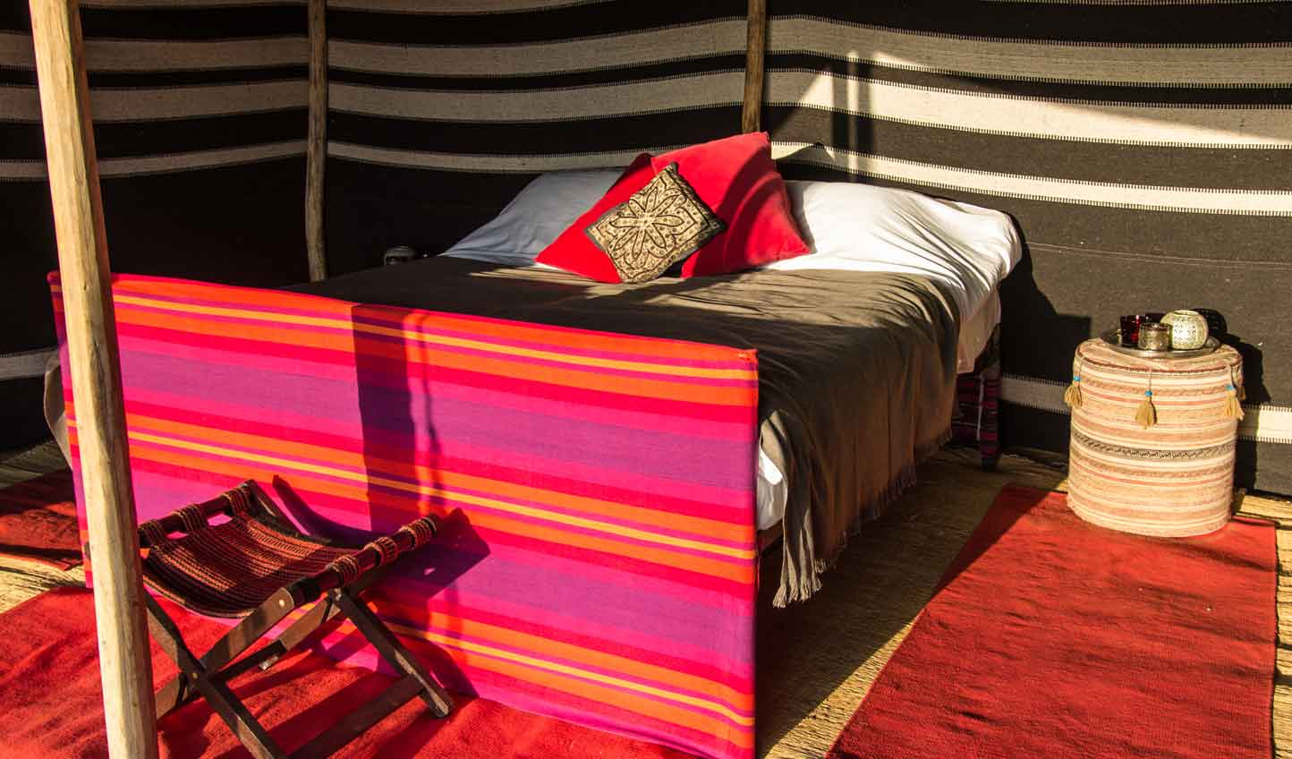 Omani fabrics bring a touch of local culture to your tent