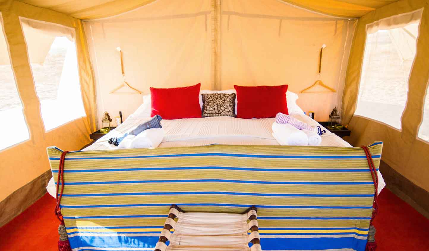 Bright, spacious tents to keep you in comfort on your Arabian adventure