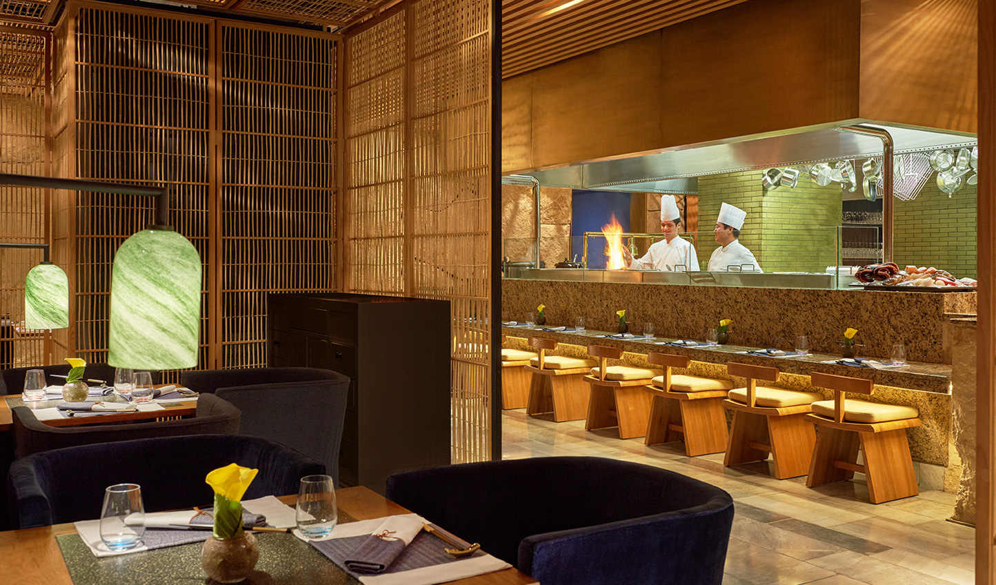 Watch the chefs in action over a meal at Tsuki