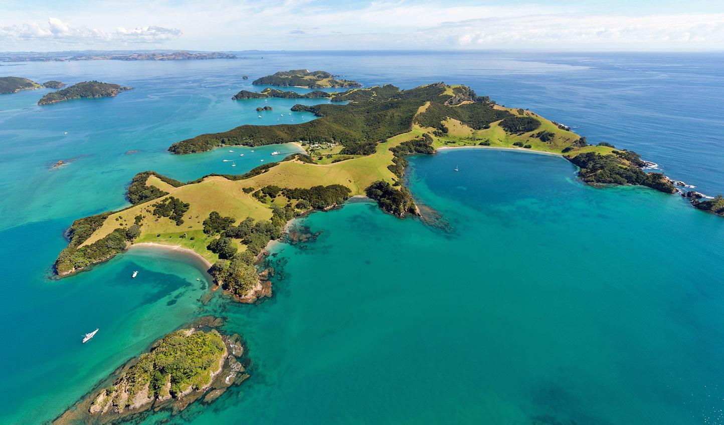Discover the islands of the Pacific down in New Zealand and French Polynesia