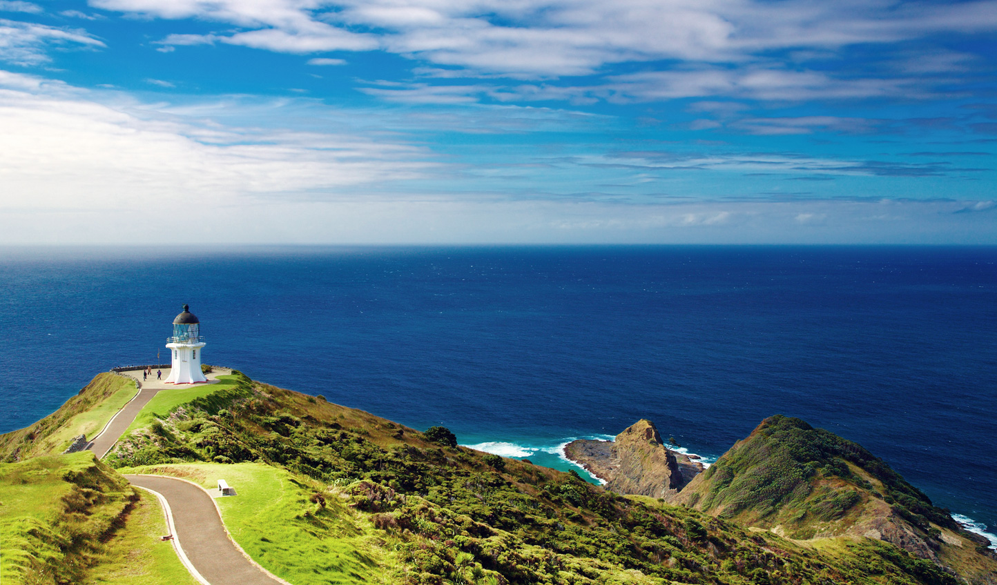 Head out on a hike up to Cape Reinga at the very tip of the North Island
