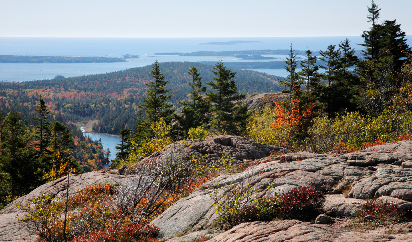 Acadia National Park is home to the highest rocky headlands along the Atlantic coastline of the United States