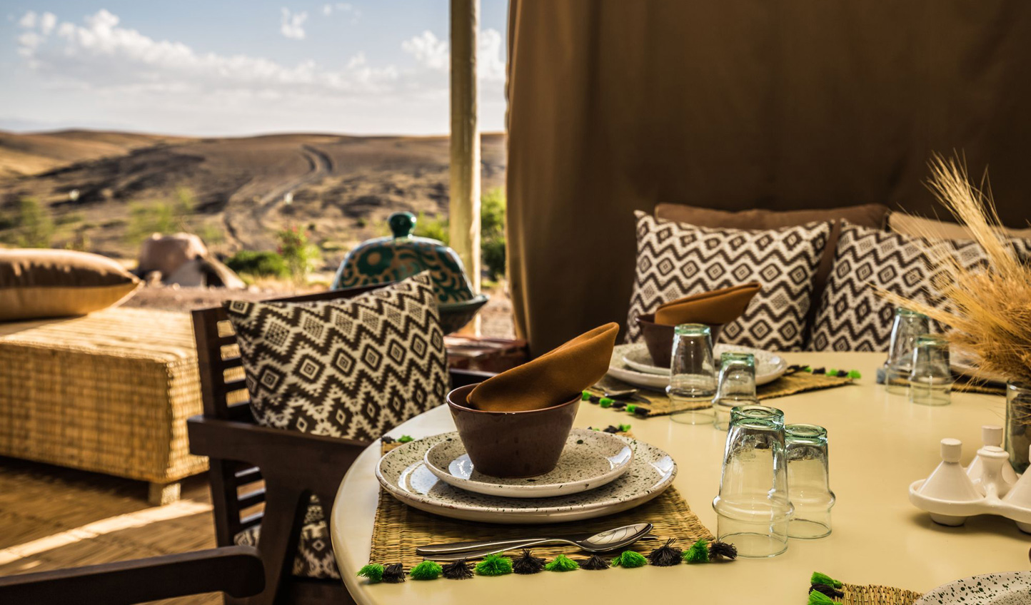 Savour traditional Moroccan cuisine with dishes prepared using produce from the onsite kitchen garden