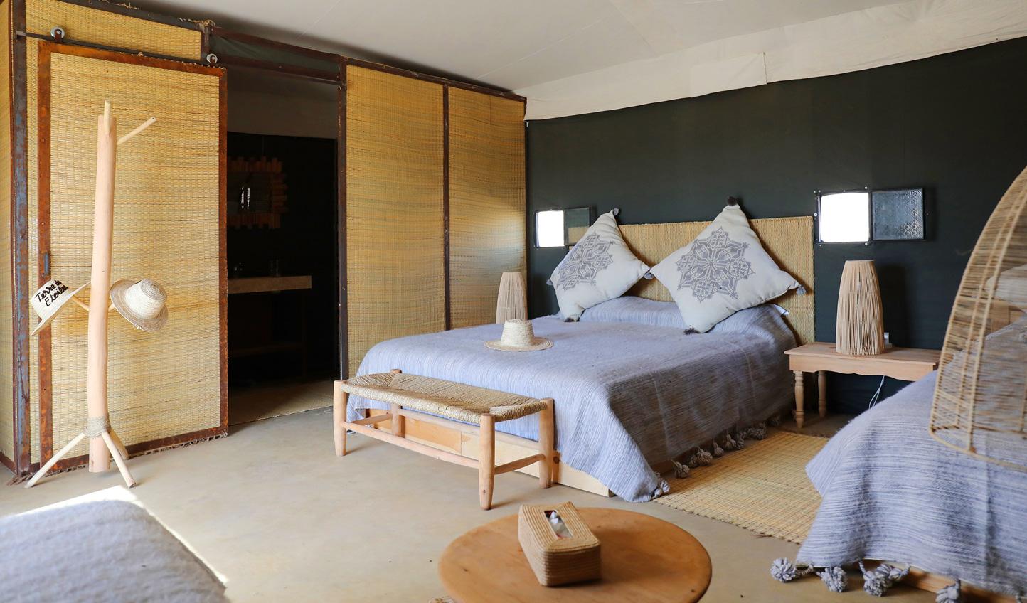 Luxurious furnishings make the desert nights experience one of unsurpassed comfort