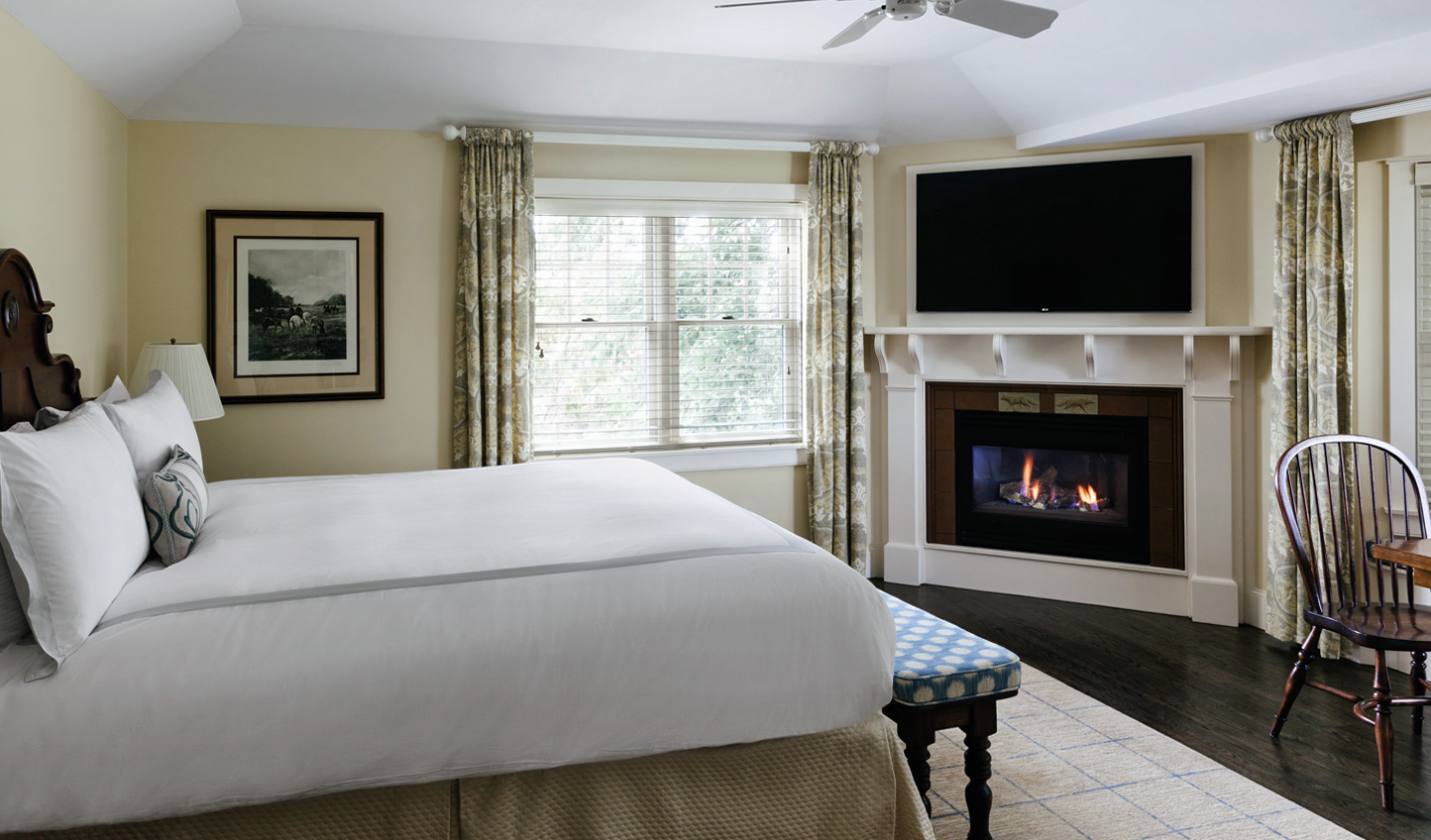 Cosy Cape Cod evenings are promised with in-room gas-lit fireplaces