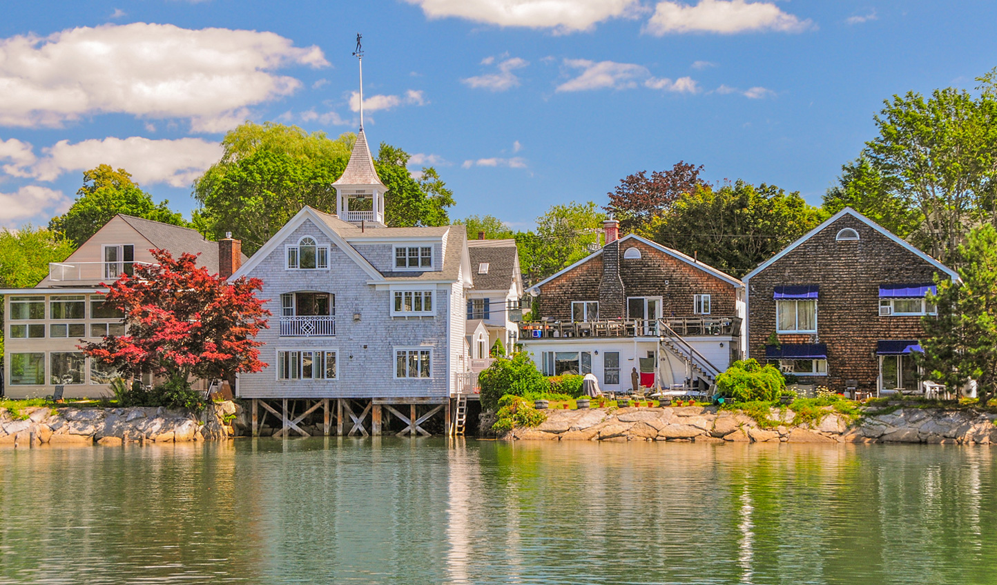 The traditional fishing village of Kennebunkport