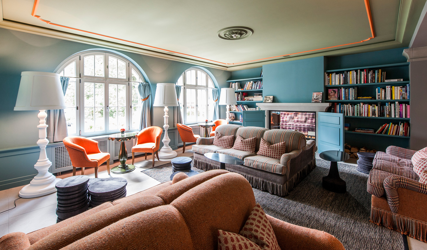 Bright colours and bold patterns bring a contemporary design to the classic hotel