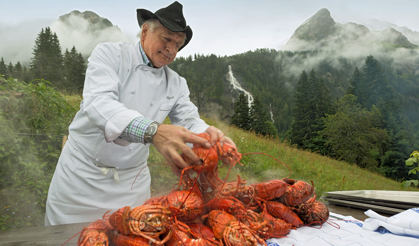 For a meal you won't soon forget, head up into the mountain for a private lobster picnic