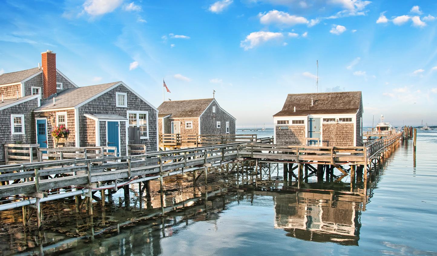 Take a walk along the quaint pier of Nantucket Island