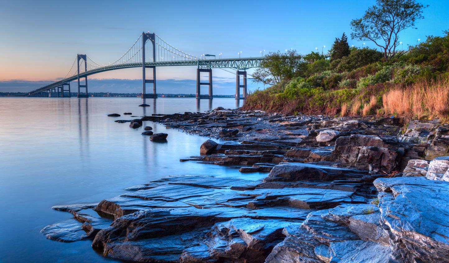 Don't miss the Newport Bridge that hangs over Narragansett Bay