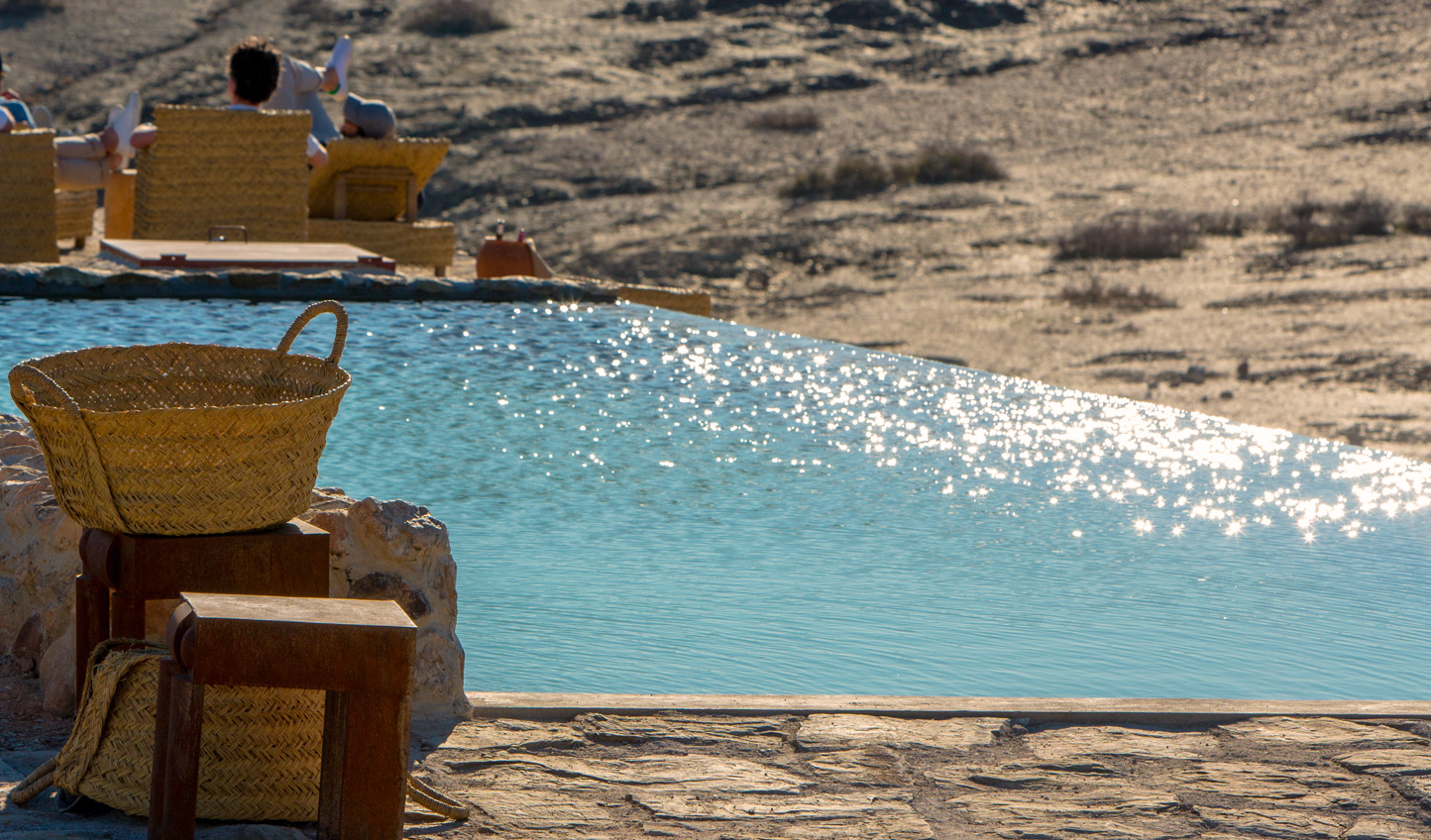 Cool off from the heat in the hotel's very own desert oasis