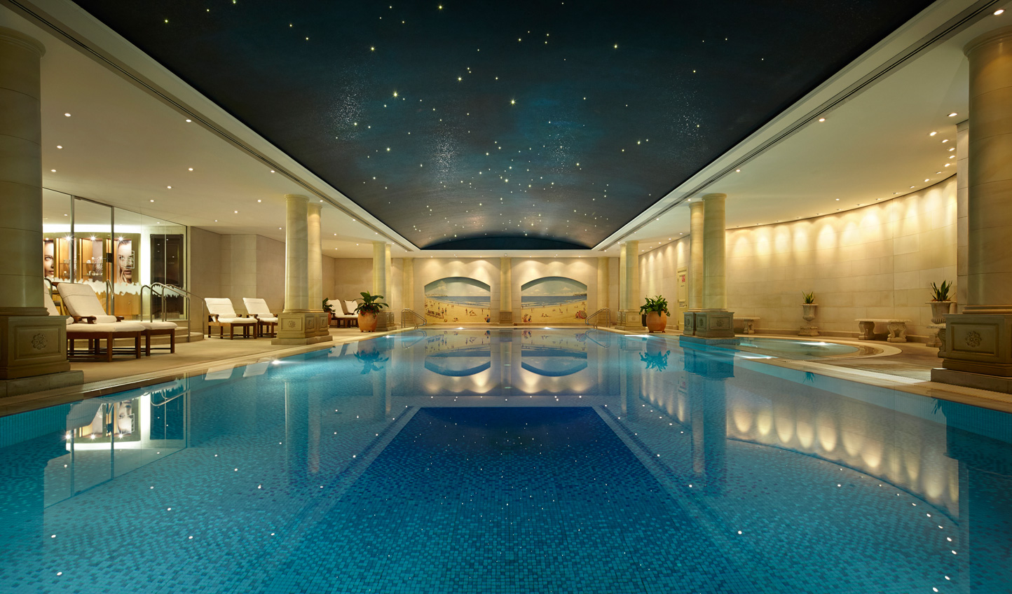 Unwind beneath the star studded ceiling of the pool