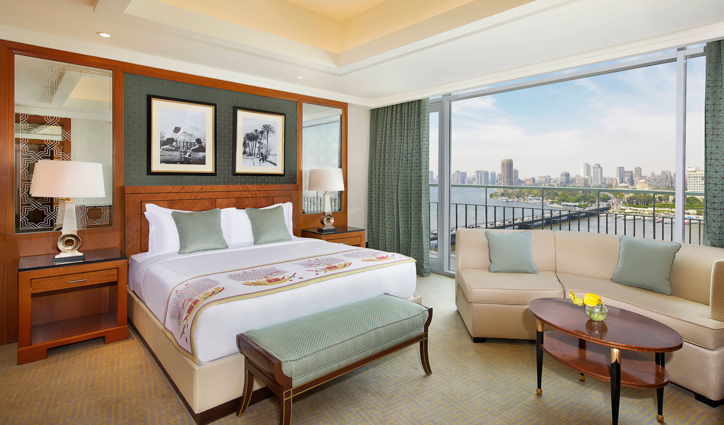 After a day exploring the city, fall pack onto crisp Egyptian sheets atop king-size beds