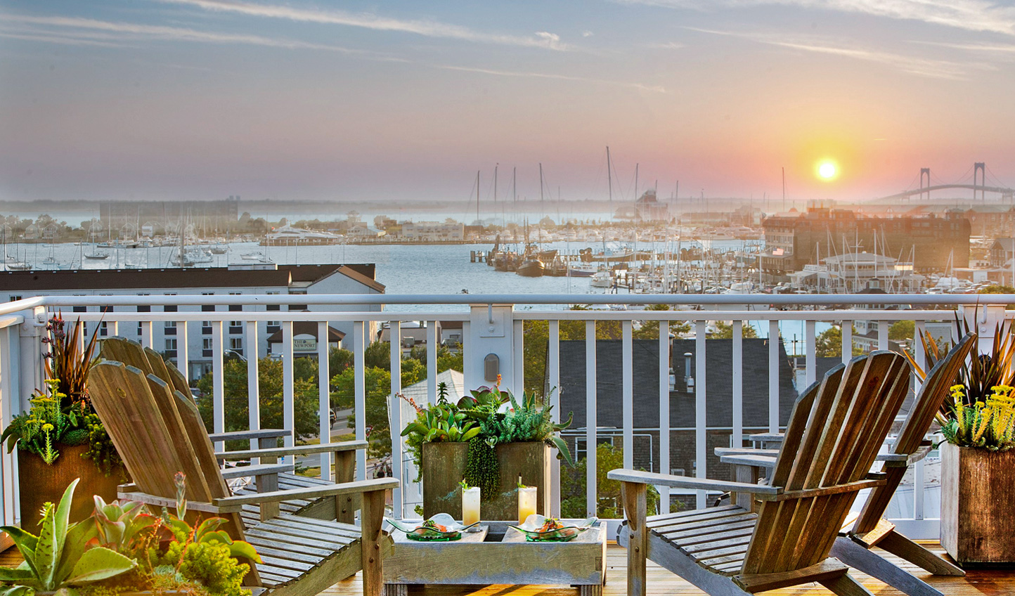 Watch the sun set over the harbour from The Vanderbilt rooftop