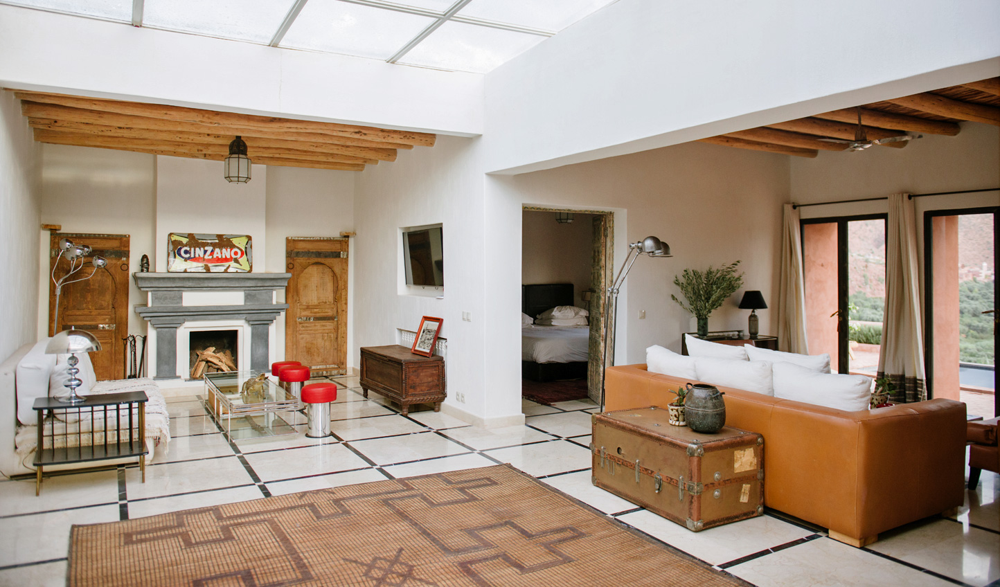 The spacious villas blend traditional Berber design with contemporary accents