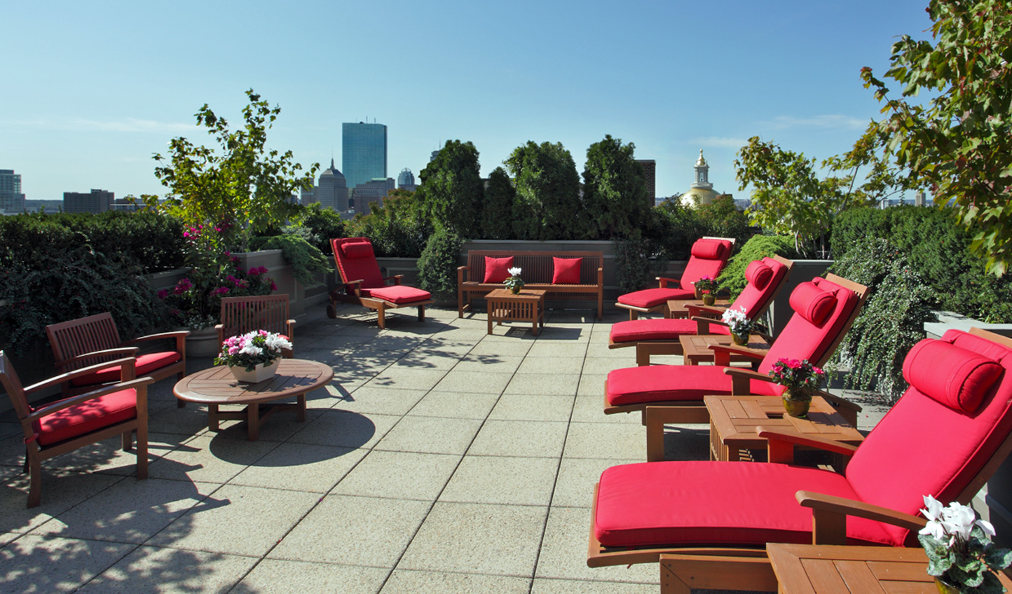 Feel the sun on your skin as you kick back and relax on the hotel's rooftop