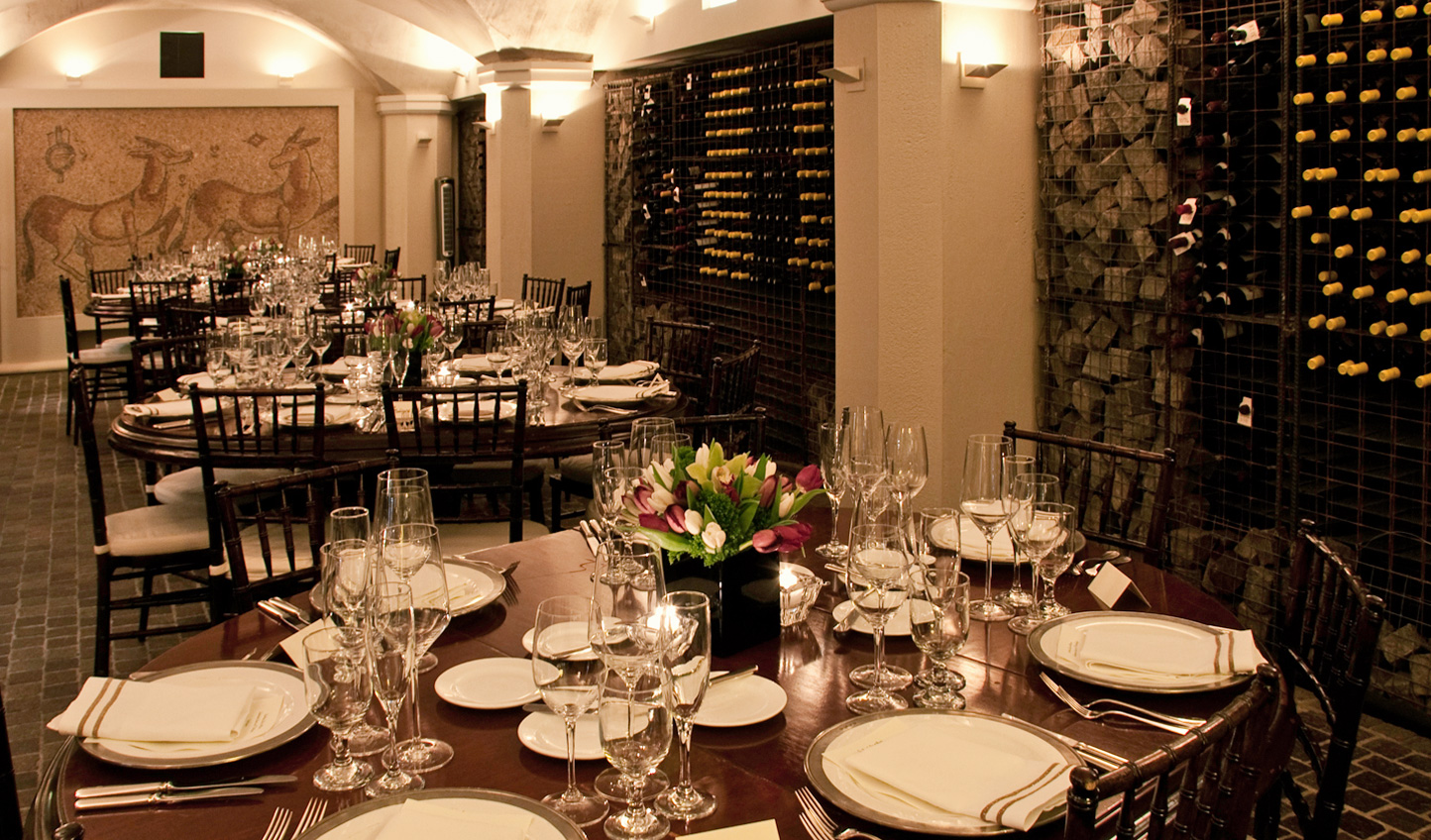 The 'Mooo' restaurant's wine cellar is home to a Roman mosaic and is not to be missed