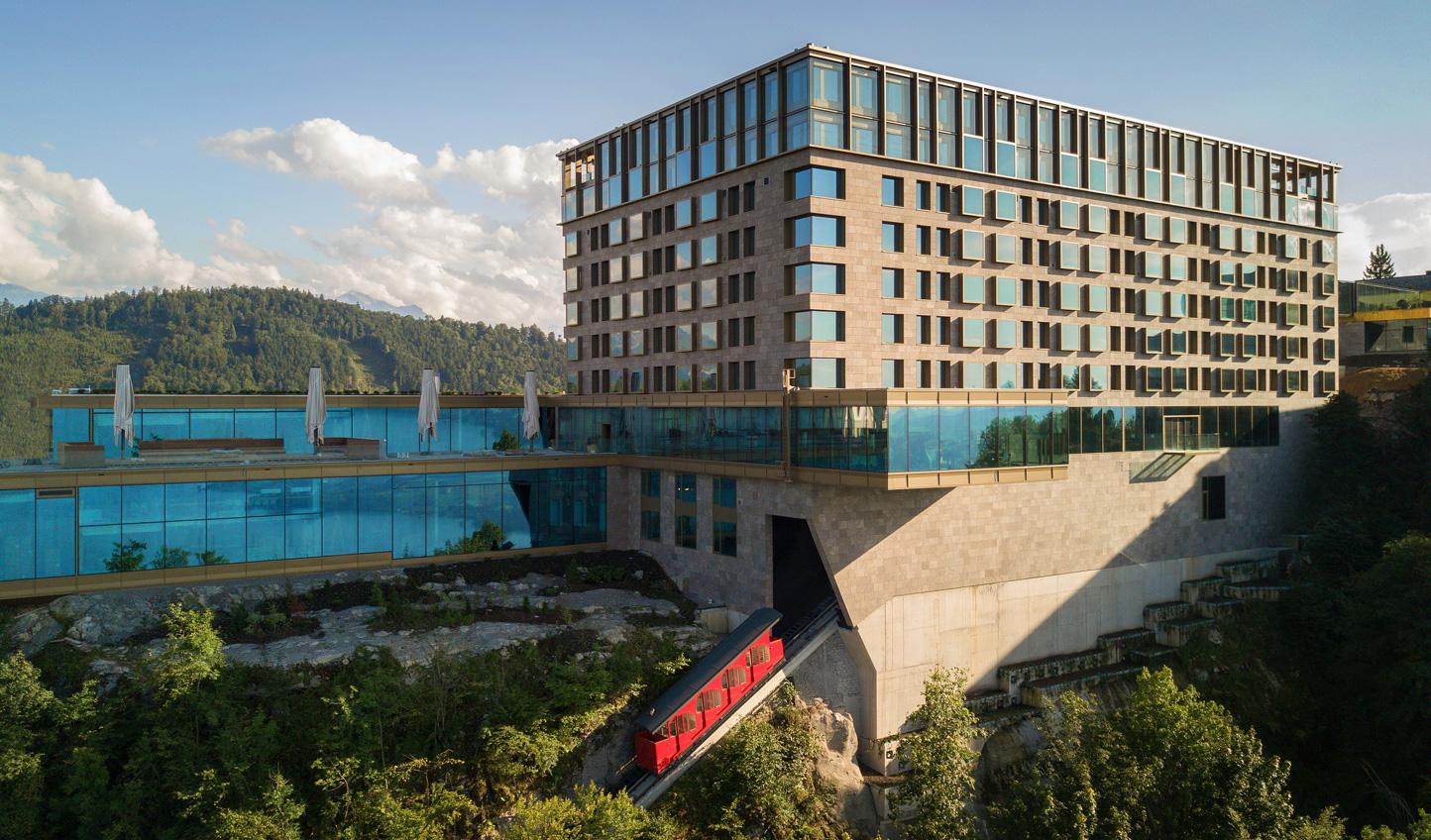 Hideaway in your own Bond villain-esque lair at Bürgenstock Hotel & Alpine Spa