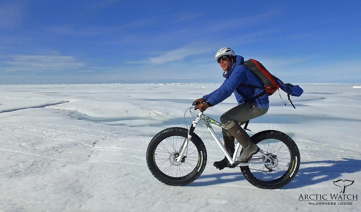 Fatbike across the frozen ice flows