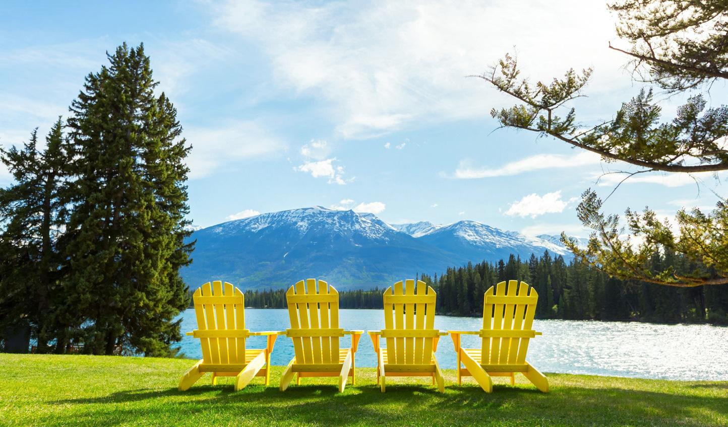 Enjoy peaceful lake views from Fairmont Jasper Park Lodge