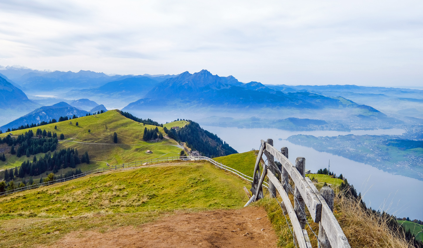 Head up atop Mount Rigi for panoramic views across the Swiss Mittelland