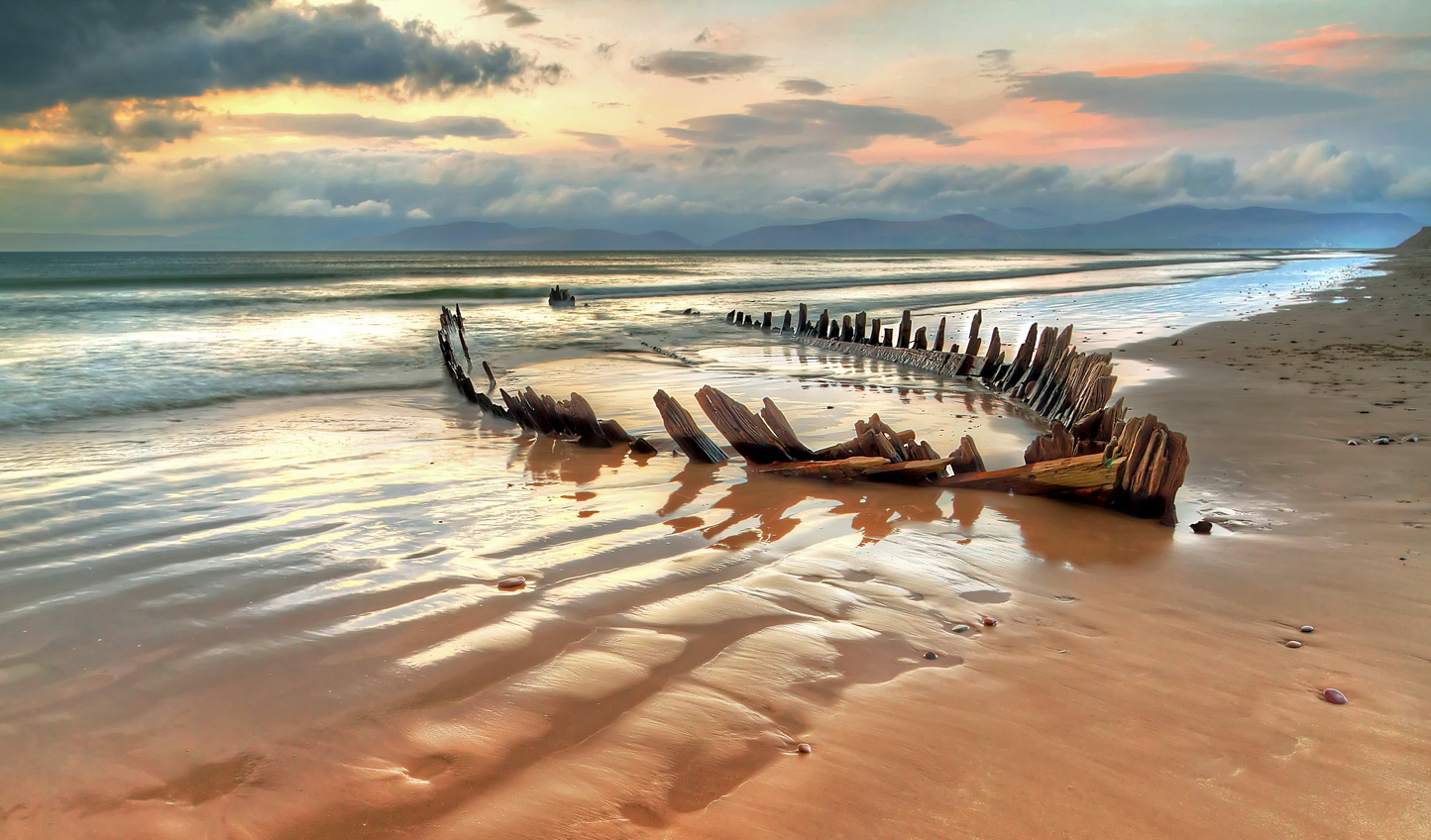 Walk along the wreck-littered shores