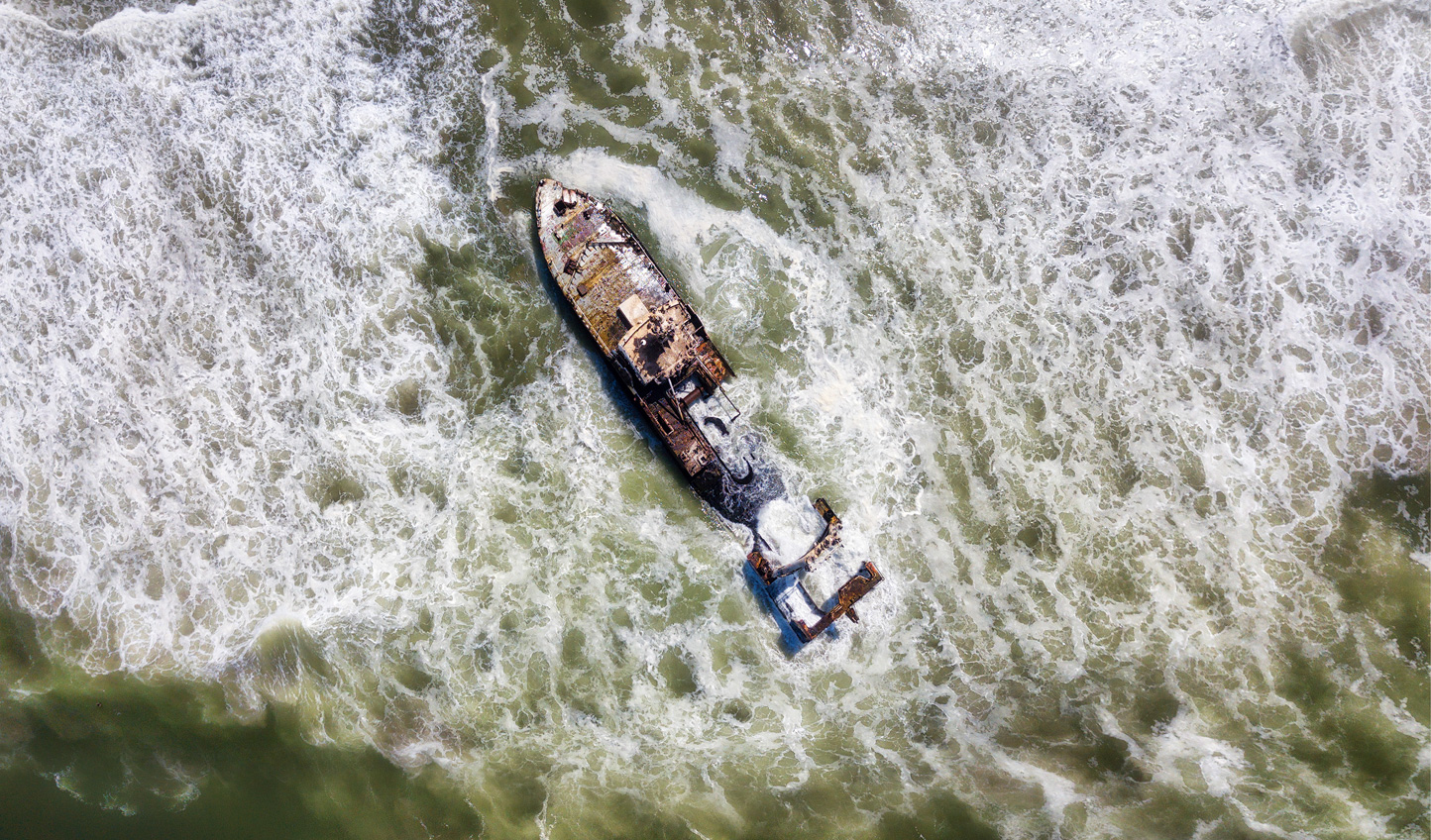 Experience the sweeping desolation of the Skeleton Coast