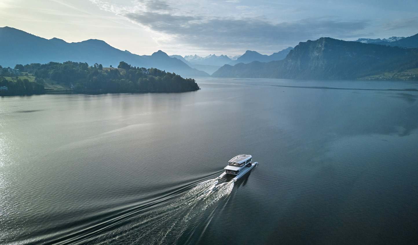 Arrive in style across the tranquil waters of Lake Lucerne1
