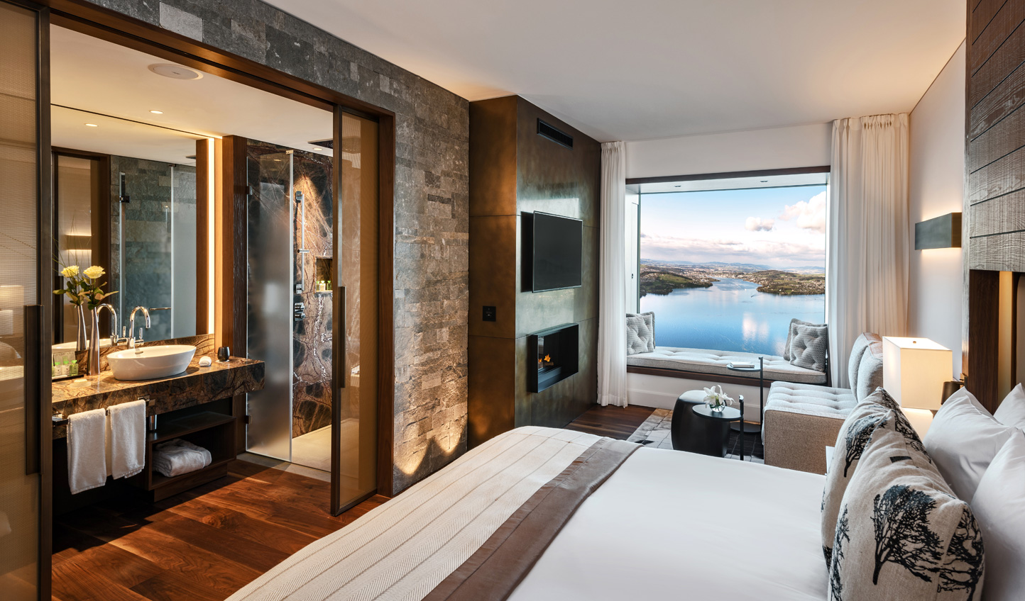 Contemporary and luxurious, Bürgenstock Hotel is a new take on Alpine-chic